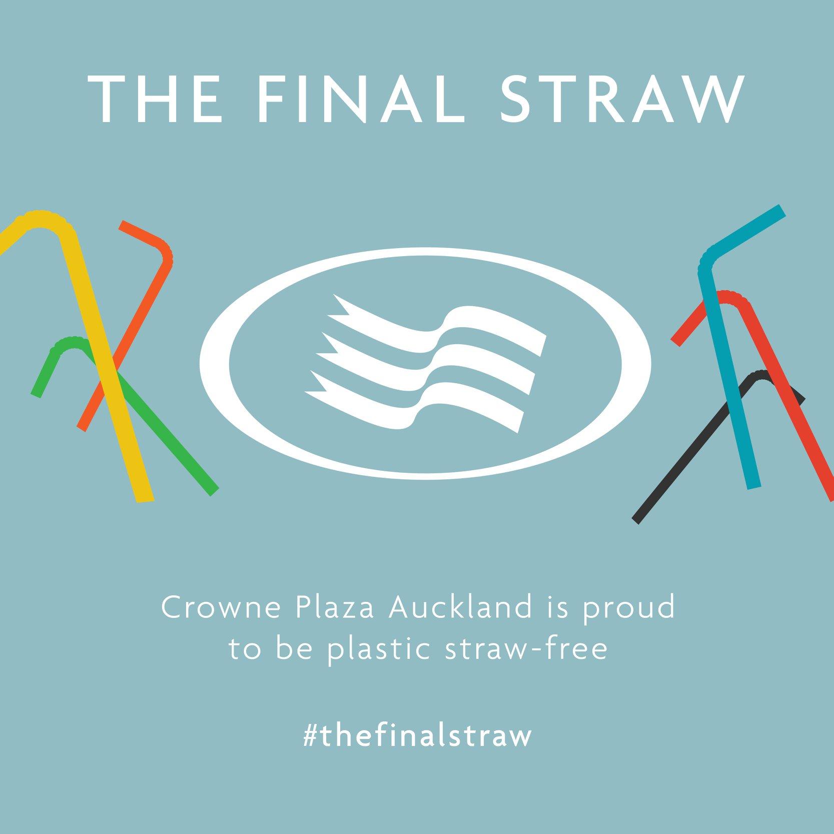 Plastic Straw Ban Crowne Plaza